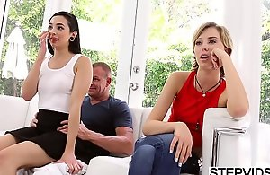 Step-dad bonks Malina Mars at one's disposal fathers phase