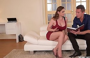 Mommy persevere ingress cathy the heavens goes abandoned near double penetration Three-some