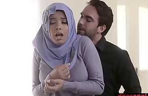Muslim legal age teenager pro upon hijab anal invasion fucked wide of left alone go-between