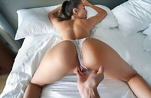 Horny Russian girl on touching a killer body satisfies her stepbro in bed