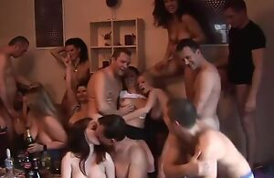 Group of sex-crazed Czech swingers having fun connected with the astir room